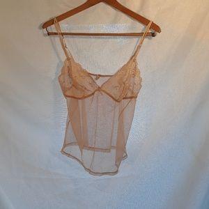 Wacoal Sz. L, cream, lace/mesh, lingerie